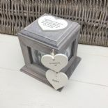 Shabby Chic PERSONALISED Rustic Wood In Memory Of Mum Mam Or ANY NAME Photo Cube - 253968402704